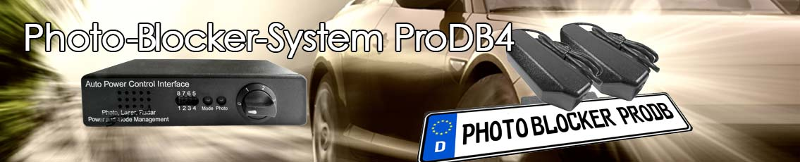 ProDB The ProDB (Pro Data Blocker) is an Anti Photo Radar and Personal Privacy Protection System that protects you and your motorcycle or vehicle from unauthorized photos of your license plate.